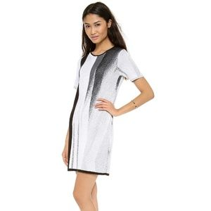 Helmut Lang Abstract Knit Sweater Dress M